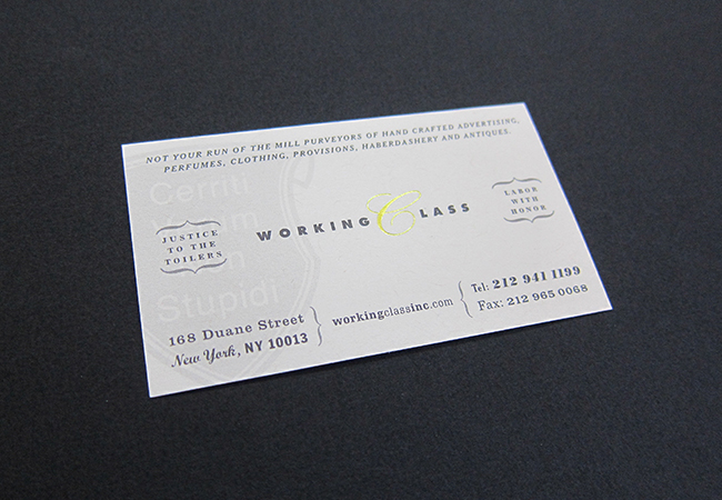 Working class graham clifford design we also extended the branding into their website point of purchase shopping bags matchbooks and stationery colourmoves